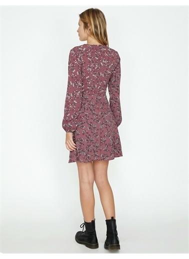 Koton Çiçekli Elbise Pembe